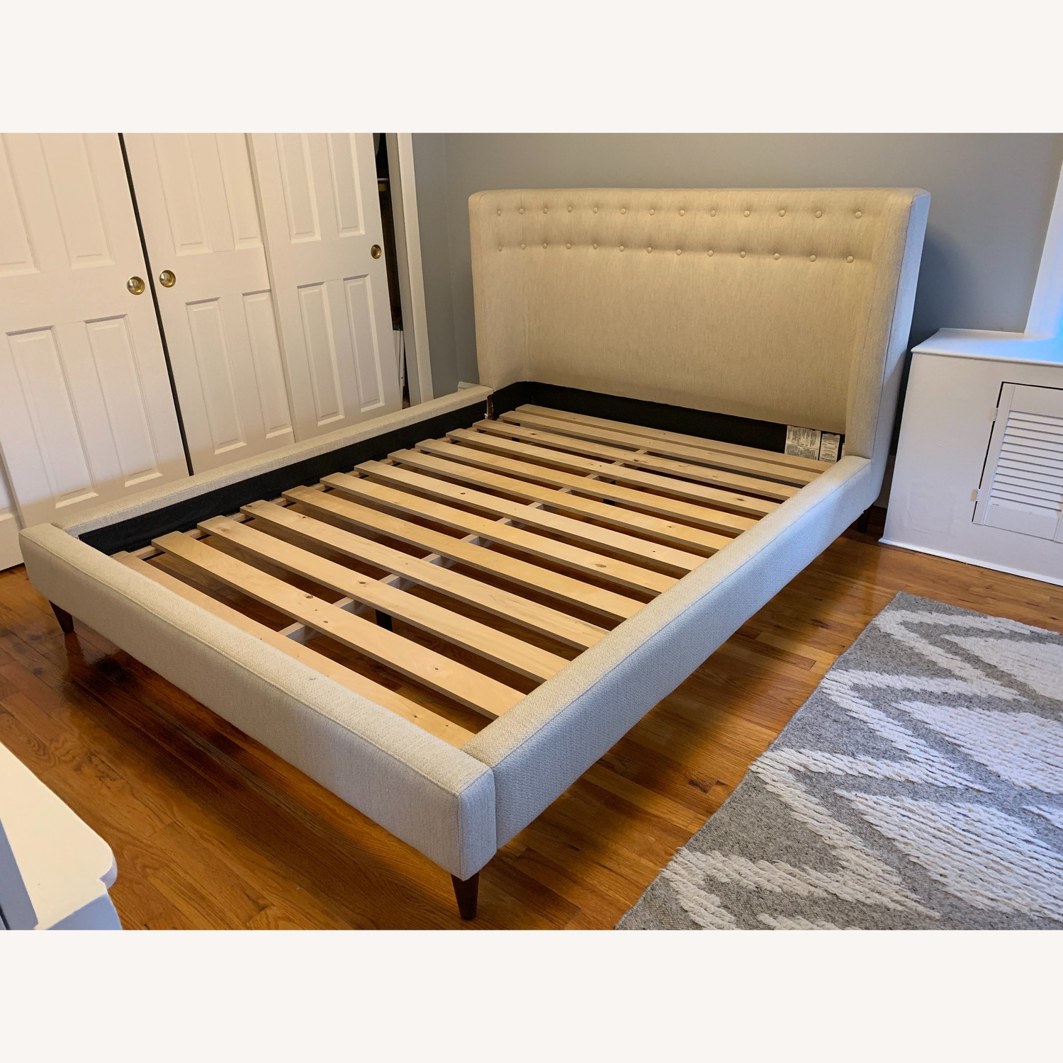 Crate & Barrel Gia Upholstered Queen Bed