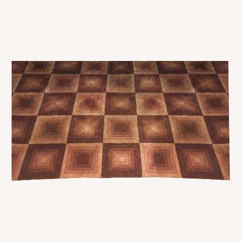 Used Red Square ABC Carpet Hand-woven Wool Area Rug for sale on AptDeco