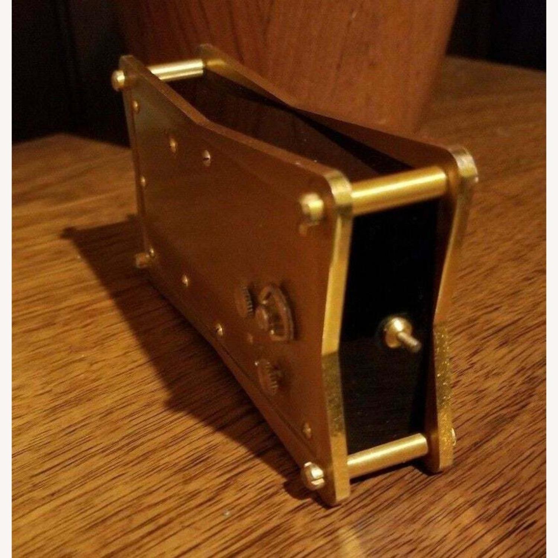 Vintage Swiss Jaeger LeCoultre Alarm/Barometer Desk Clock - image-3