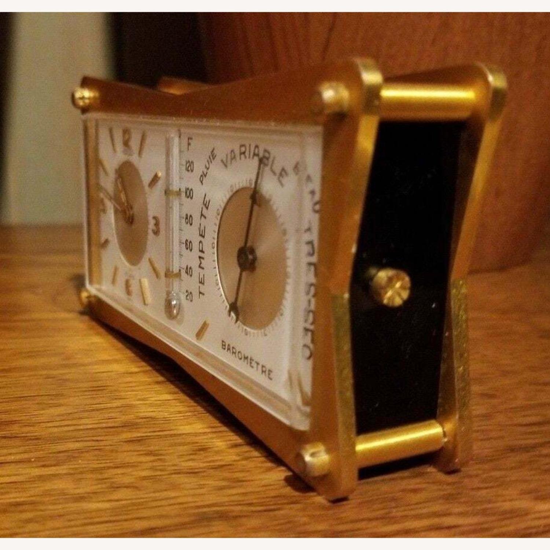 Vintage Swiss Jaeger LeCoultre Alarm/Barometer Desk Clock - image-2