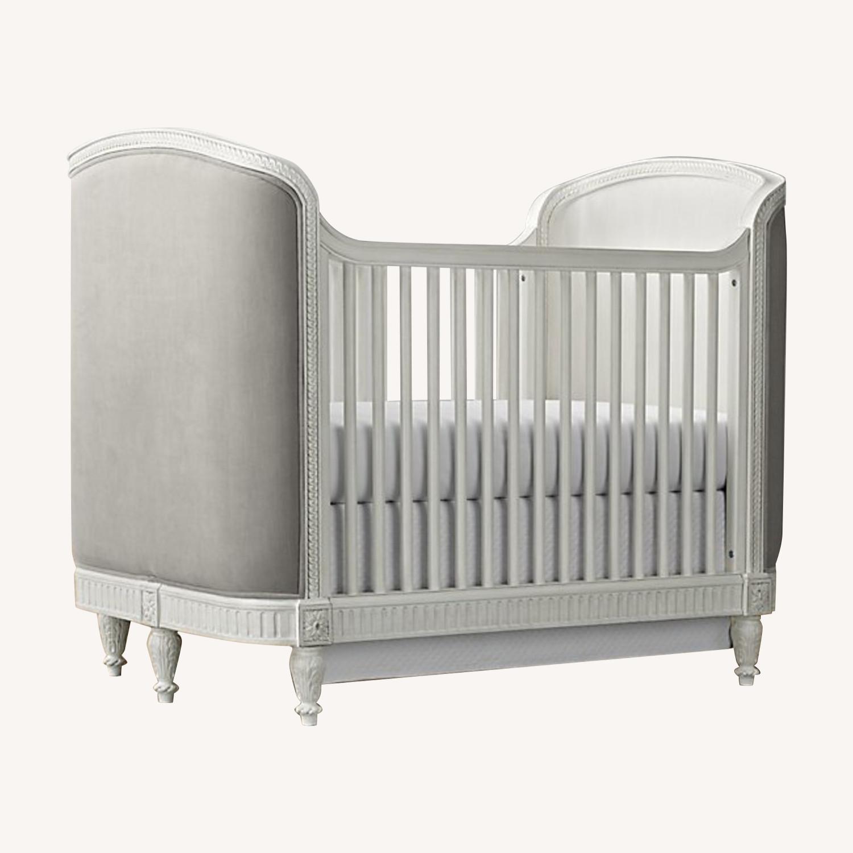 Restoration Hardware Upholstered Crib and Conversion Kit