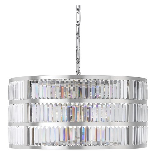 Used William Sonoma Home Lamont Round Crystal Chandelier for sale on AptDeco