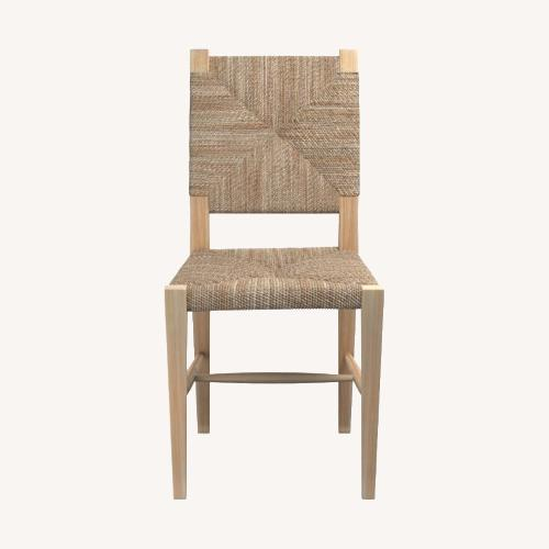 Used William Sonoma Home Rutherford Woven Rush Dining Side Chair for sale on AptDeco