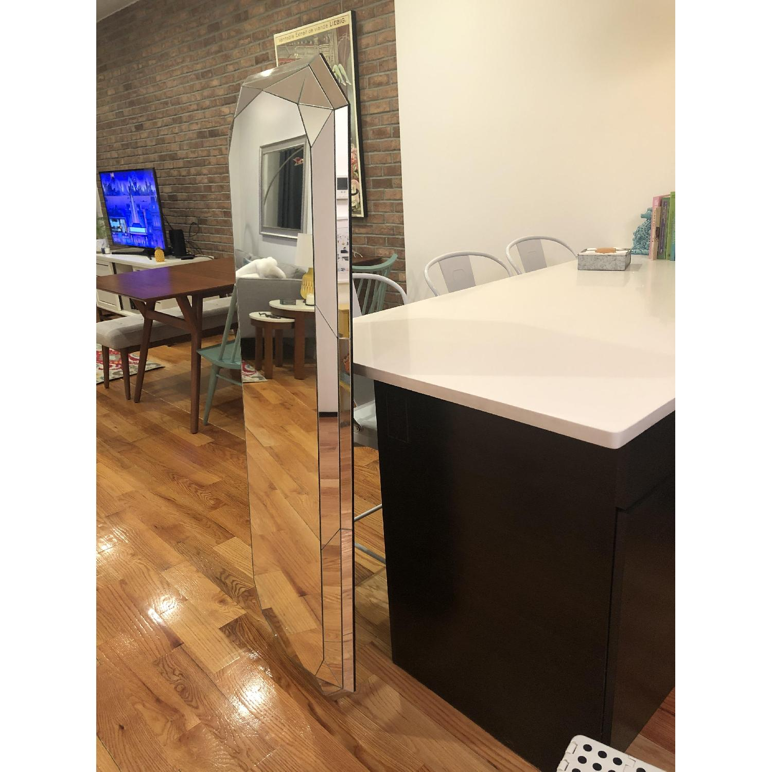 West Elm Emerald Cut Floor Mirror
