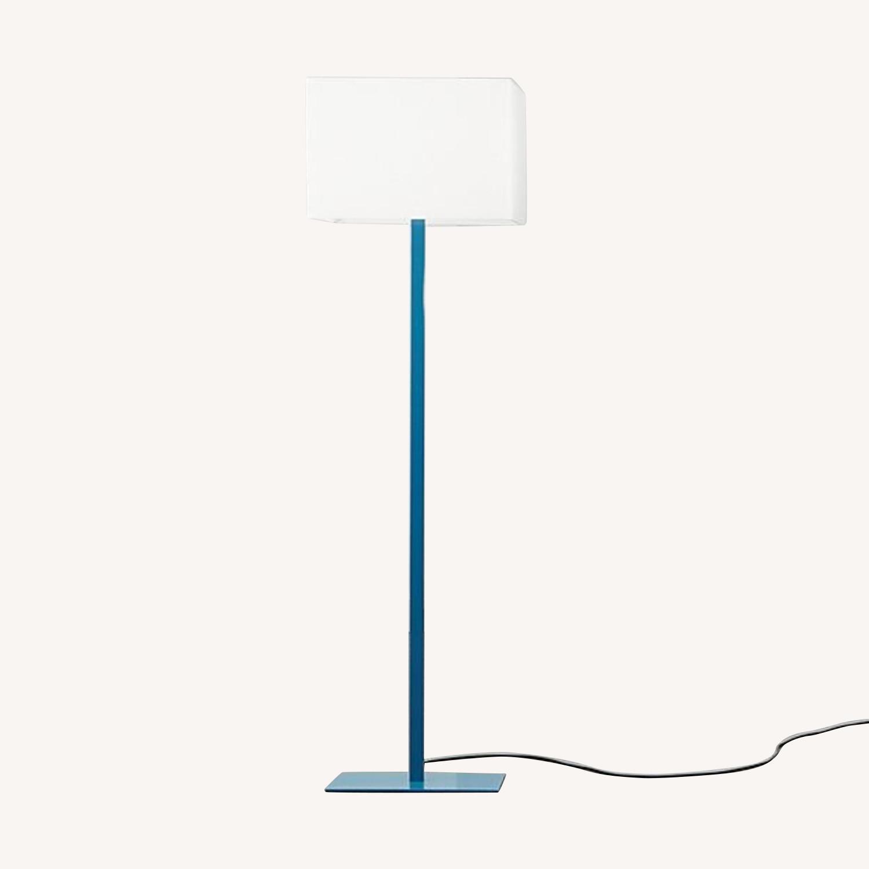 CB2 John Floor Lamp, Peacock Blue