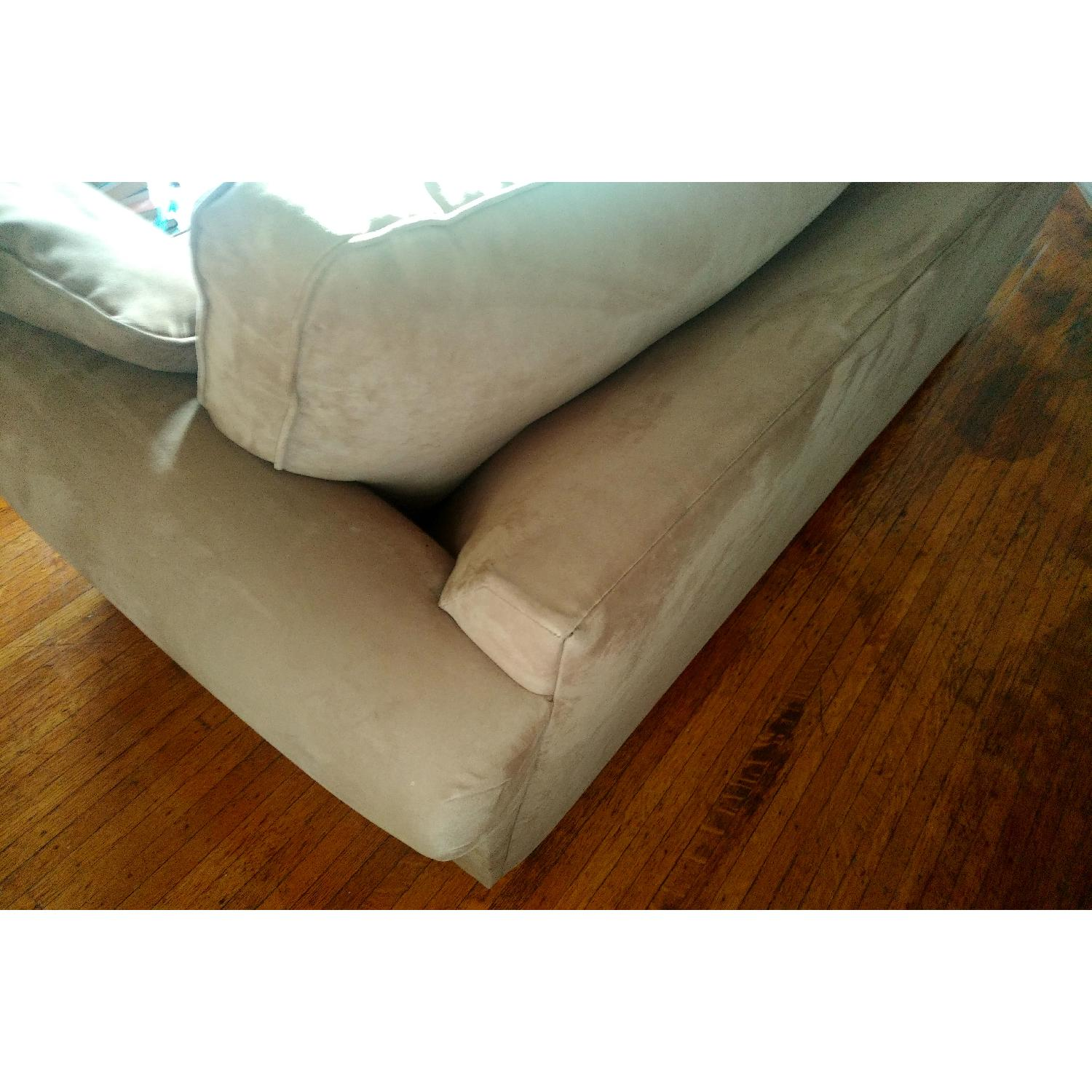 Micro-suede couch with hidden sofa bed