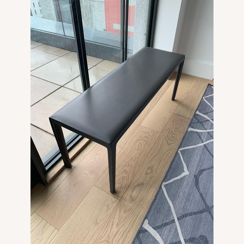 Room & Board Sava Leather Bench - image-1