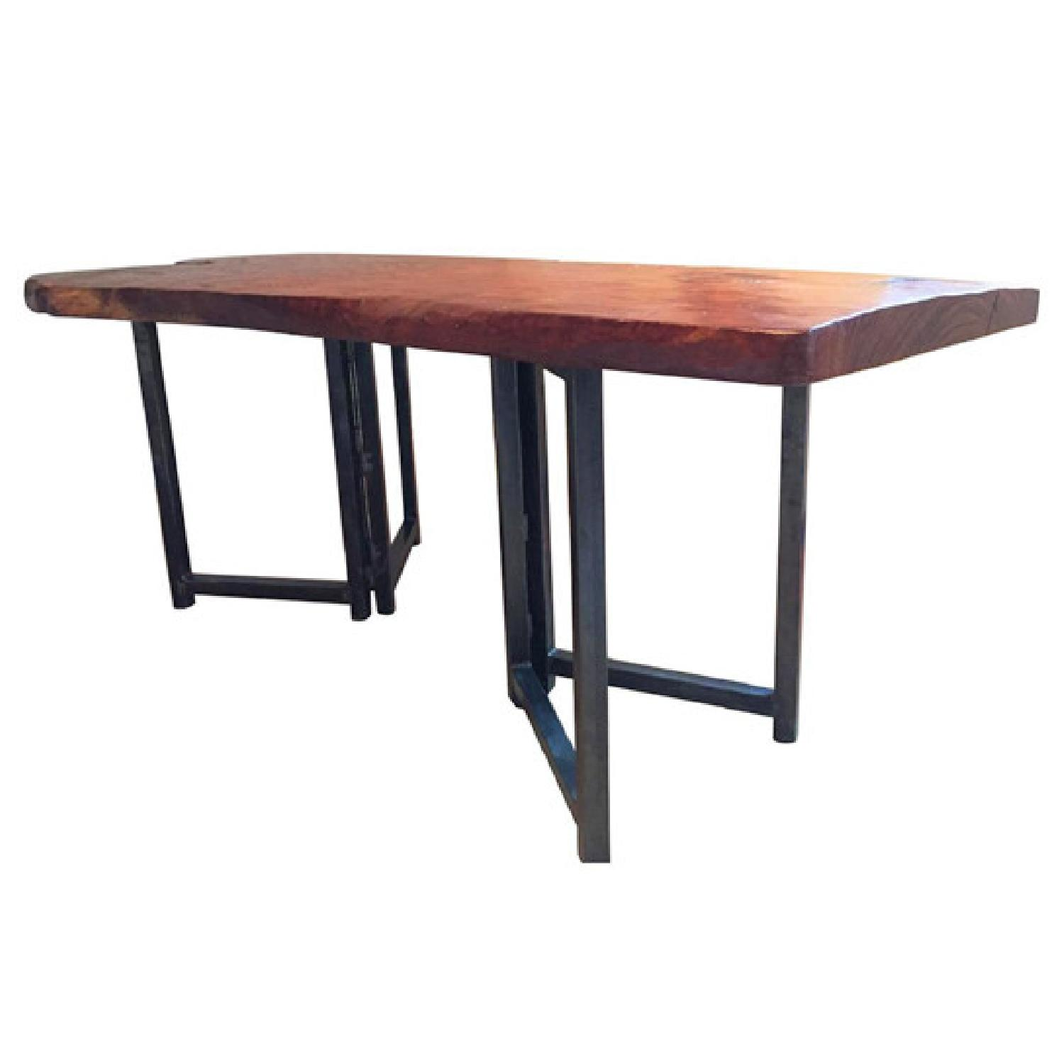 From The Source Hand-Crafted Teak Slab Dining Table - image-0