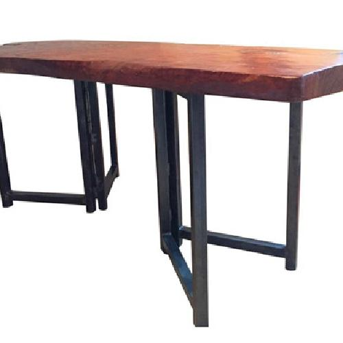 Used From The Source Hand-Crafted Teak Slab Dining Table for sale on AptDeco