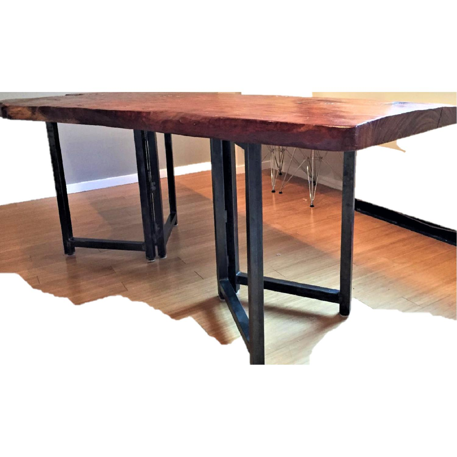 From The Source Hand-Crafted Teak Slab Dining Table - image-6