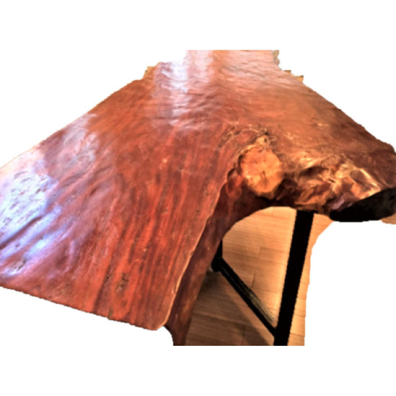 From The Source Hand-Crafted Teak Slab Dining Table - image-5