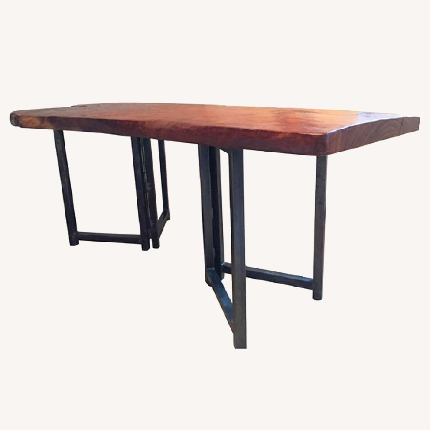 From The Source Hand-Crafted Teak Slab Dining Table - image-8