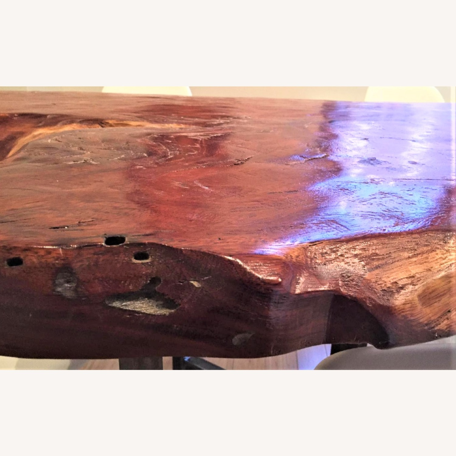 From The Source Hand-Crafted Teak Slab Dining Table - image-10