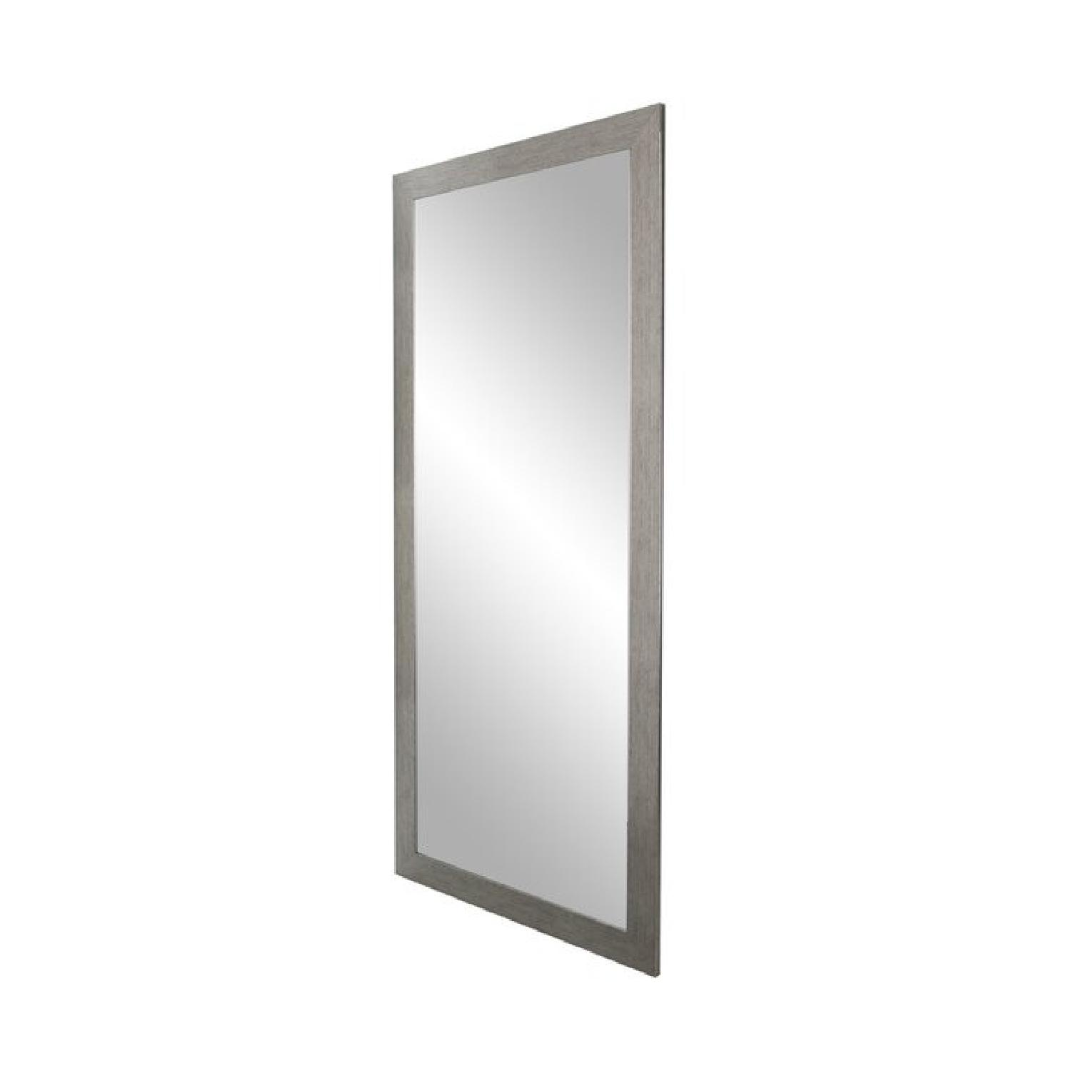 Laurel Crown Full Length Silver Floor Mirror