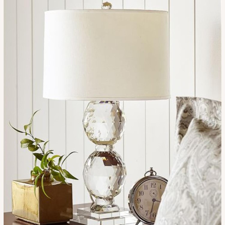 Pottery Barn Carlotta Faceted Crystal Table Lamp Base