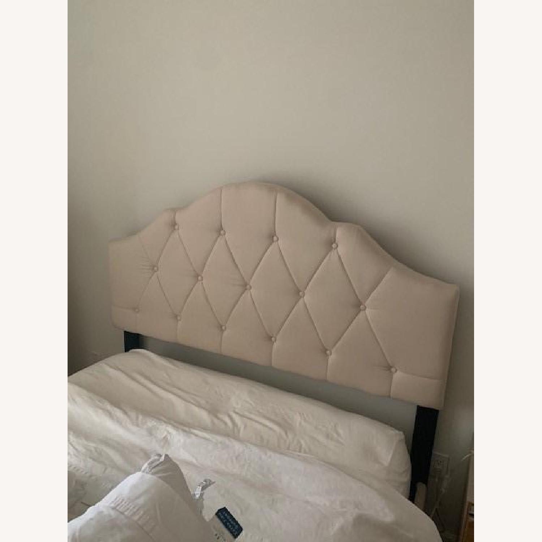 Wayfair Beige Fabric Bed