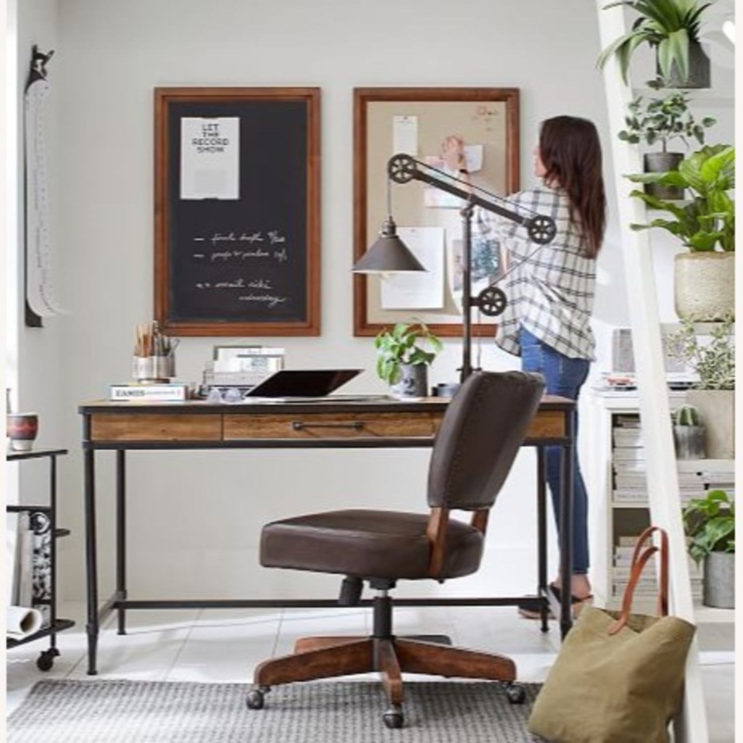Pottery Barn Printer's Home Office Linen Pinboard