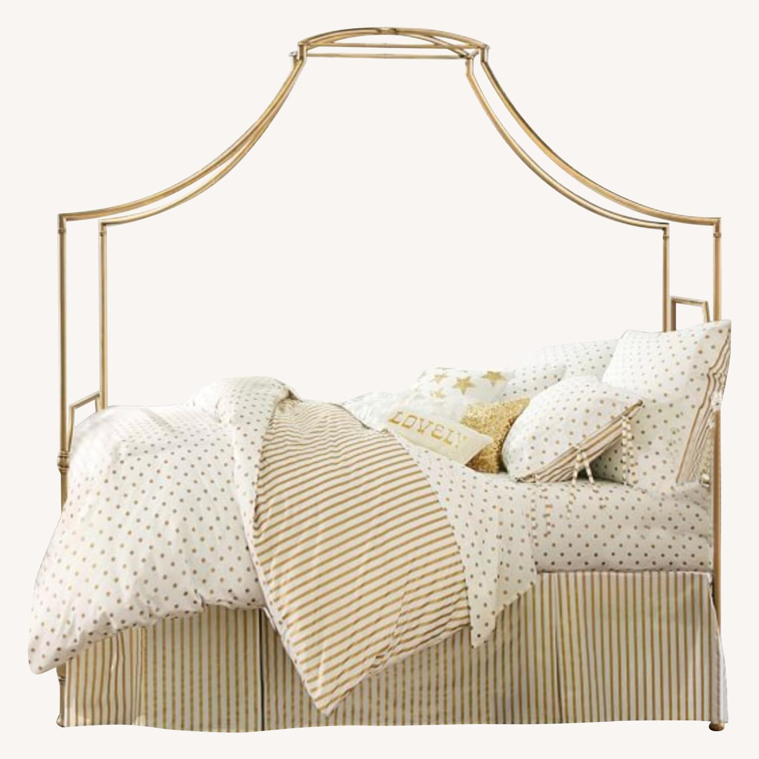 Pottery Barn Teen: Full Gold Maison Canopy Bed