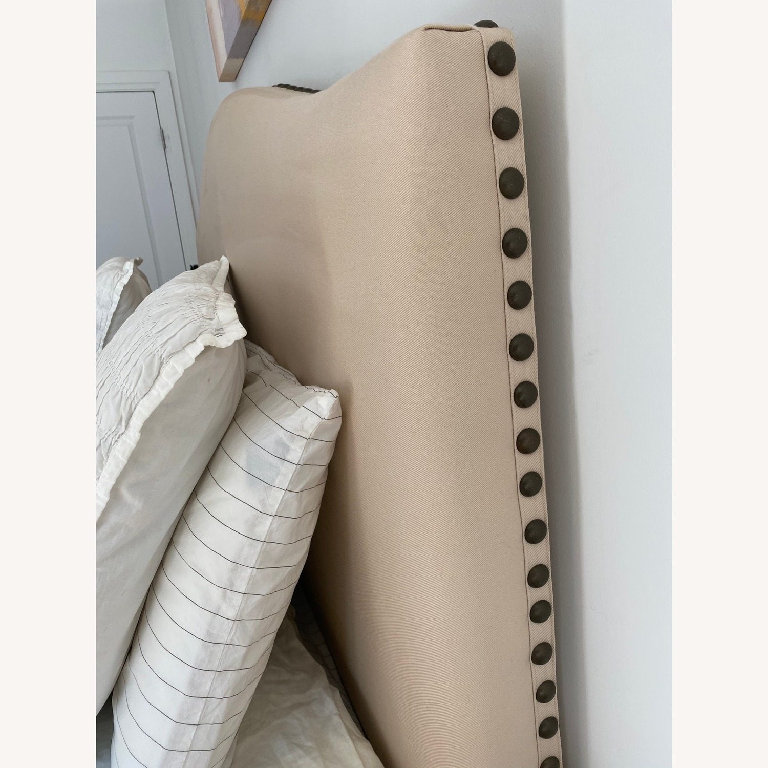 Pottery Barn Queen Raleigh Upholstered Bed
