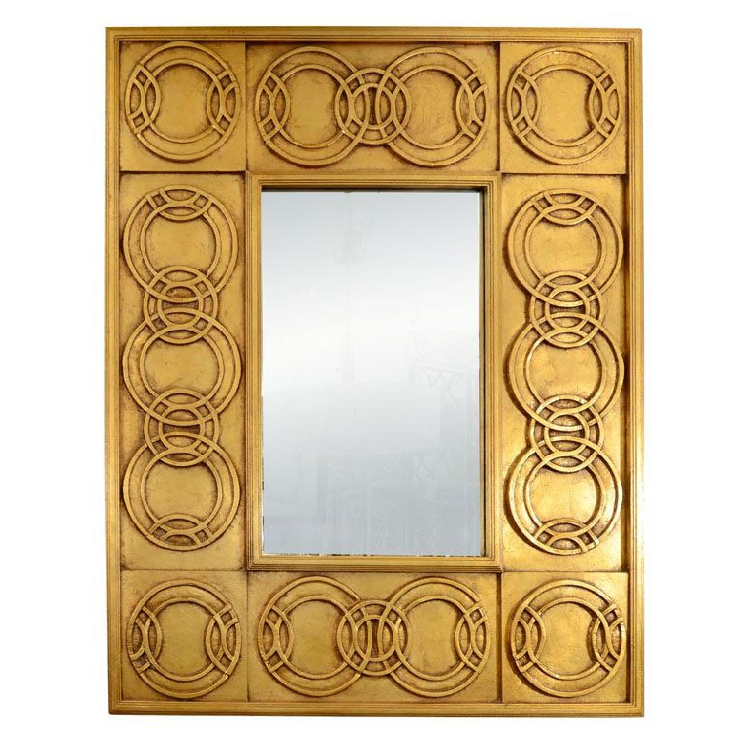 Vintage Large Gold Leaf Motif Mirror by Jay Spectre