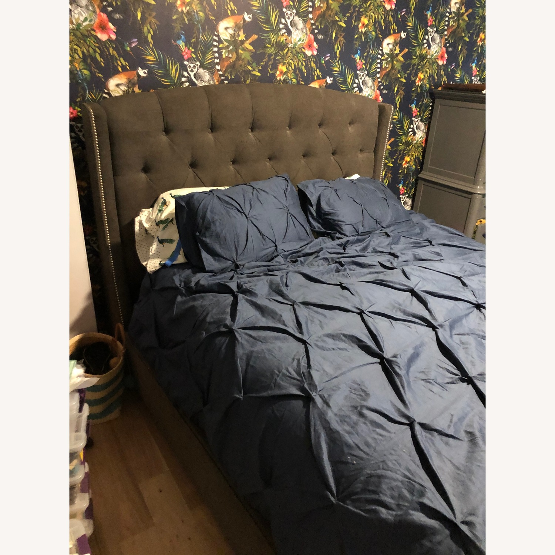 Macy's Upholstered Zoe Bed Queen