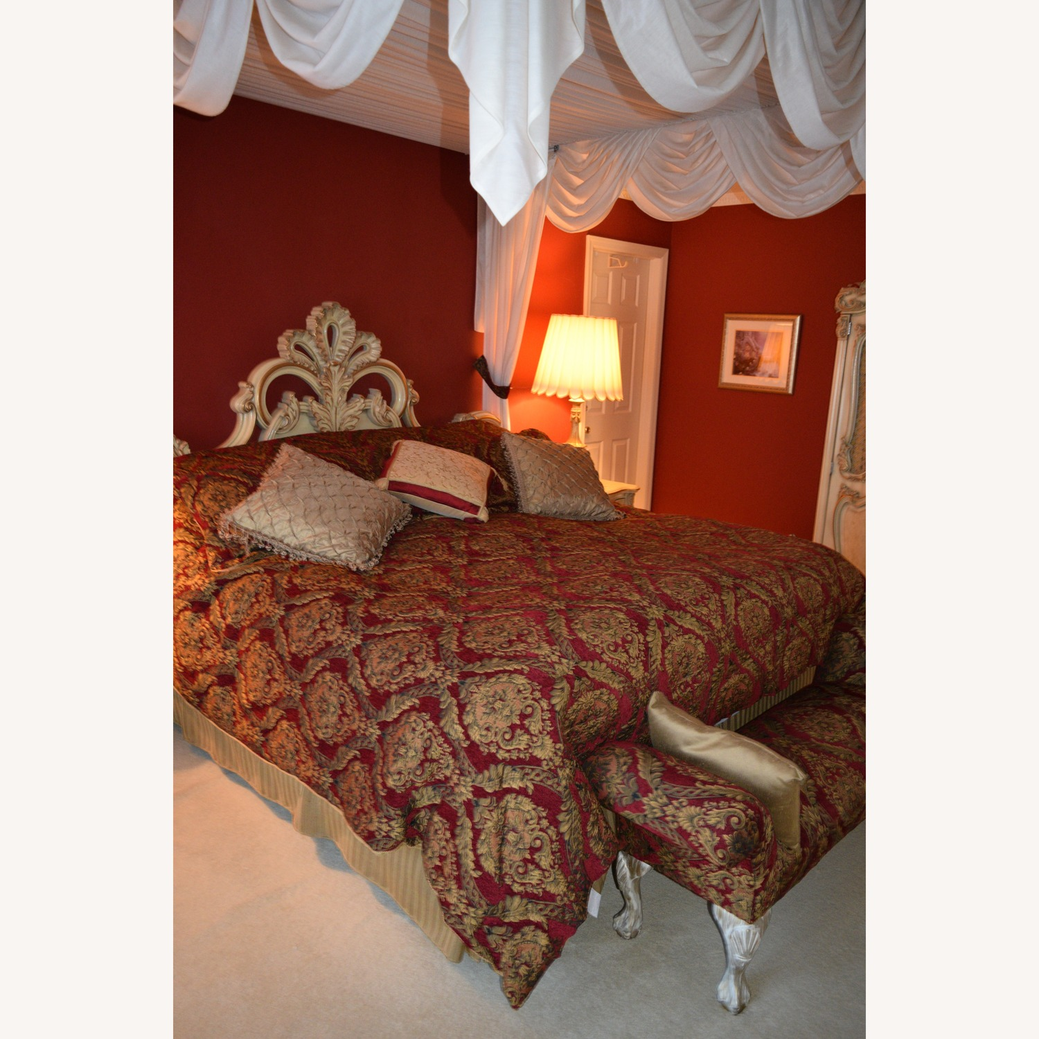 Custom Made King Size Bed, Birch Bed Frame