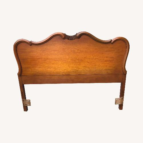 Used Vintage Louis XV Style Solid Wood Queen/ Full Size Headband for sale on AptDeco