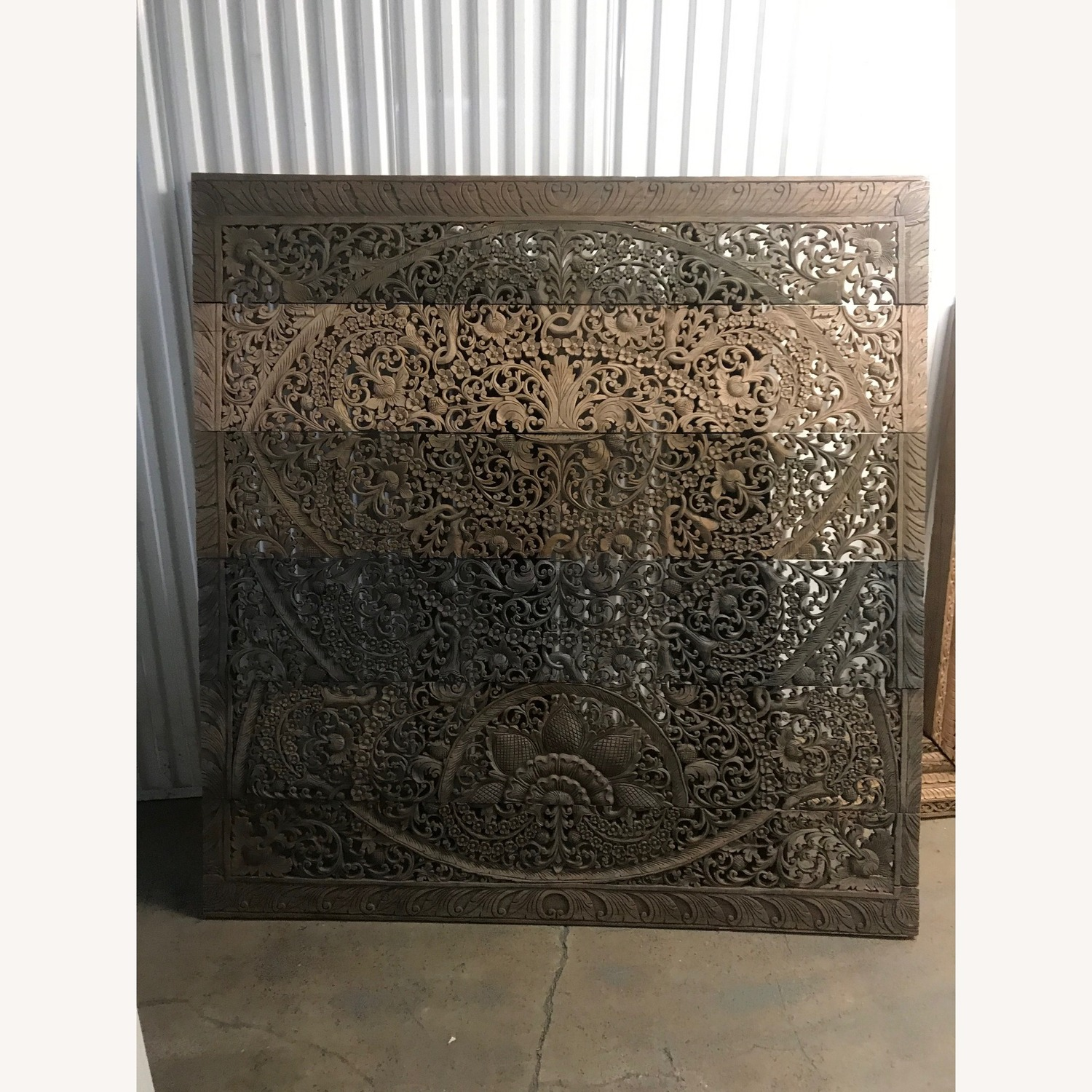 Burmese Wooden Wall Panel Carving