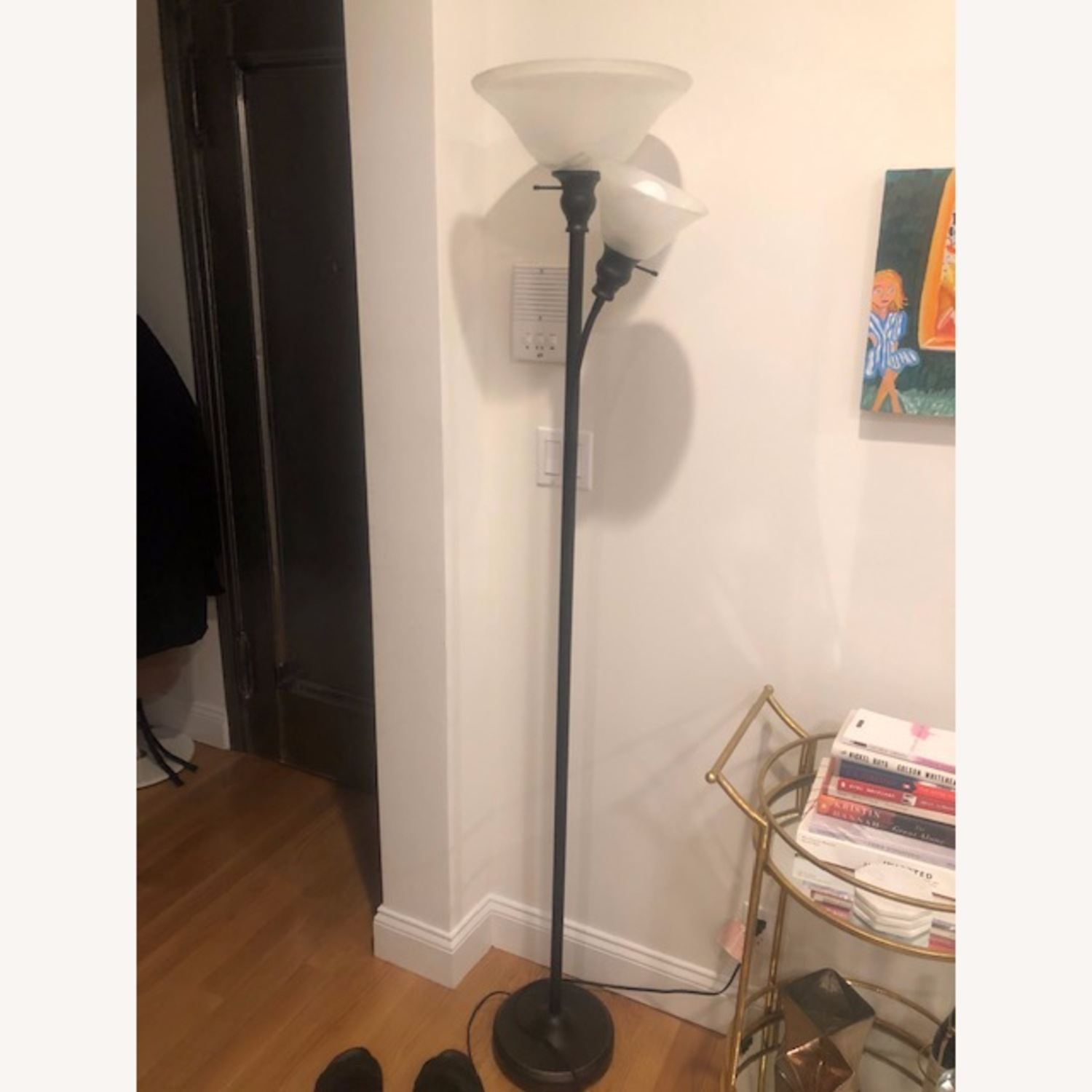 Floor Lamp w/ Marbled Glass - image-1