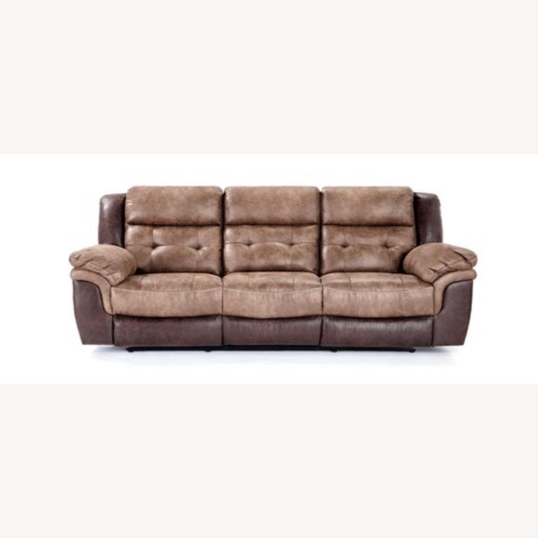 Brown Recliner Sofa with Memory Foam