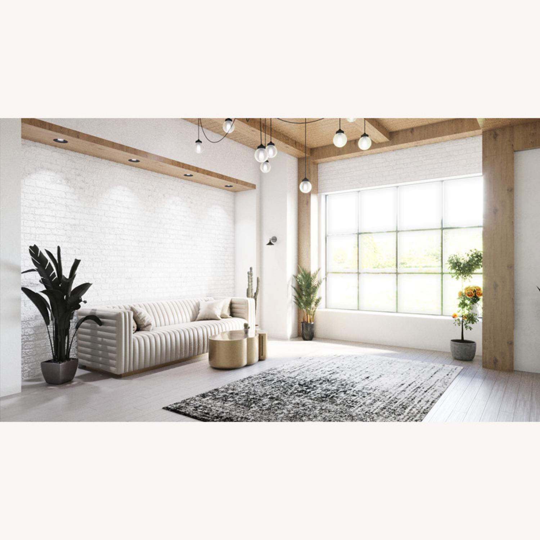 Brooklyn Space Deco Mid-Century Modern Fabric Sofa