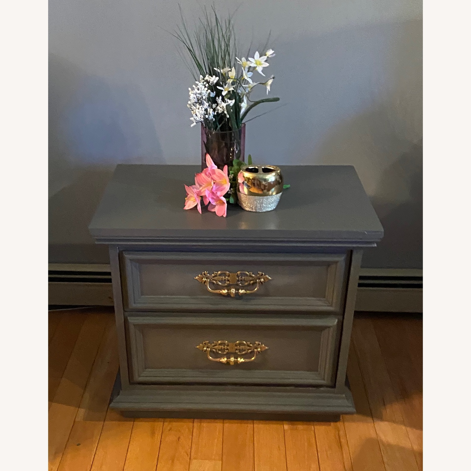 Vintage Gray Accent Table