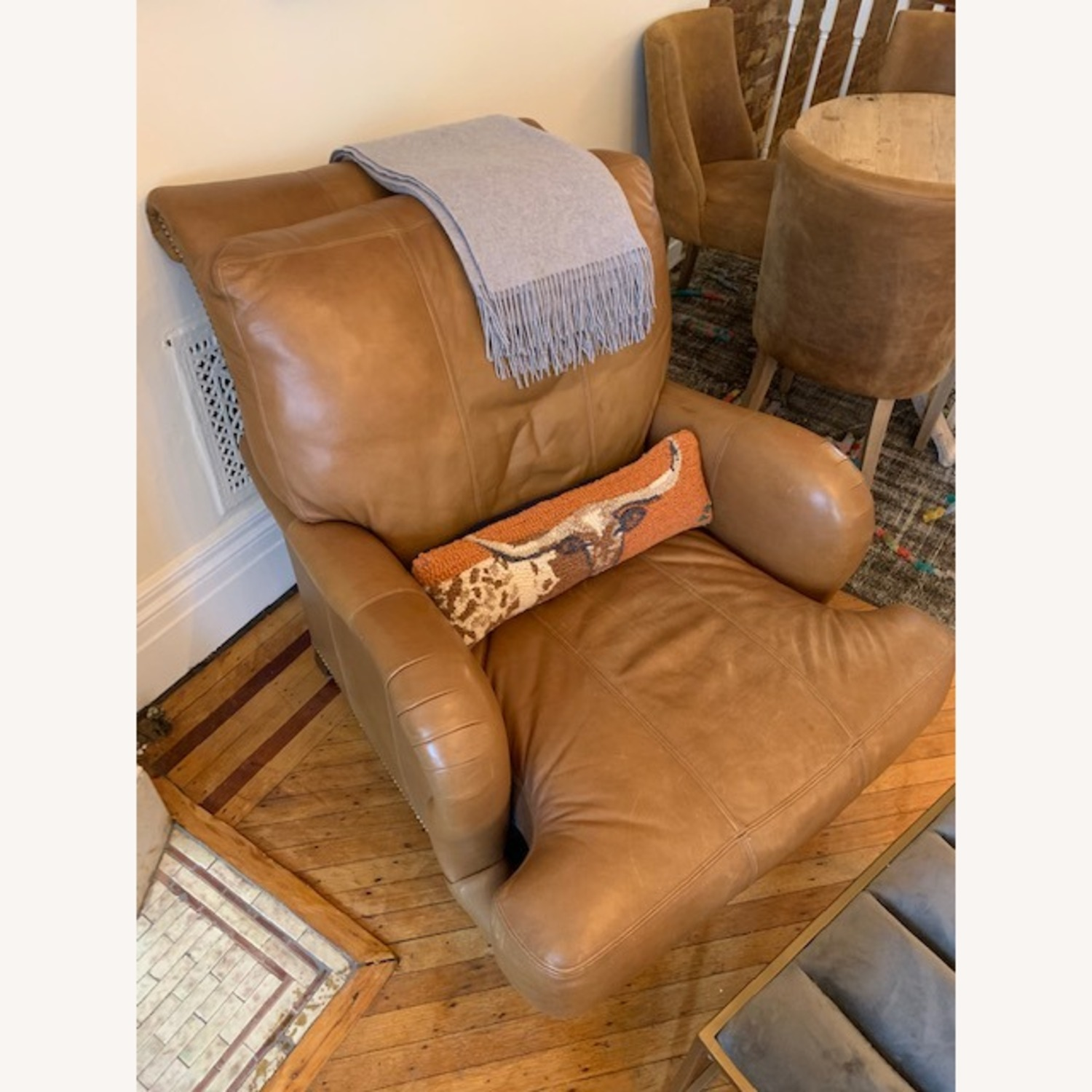 Brown Leather Beautiful Chair