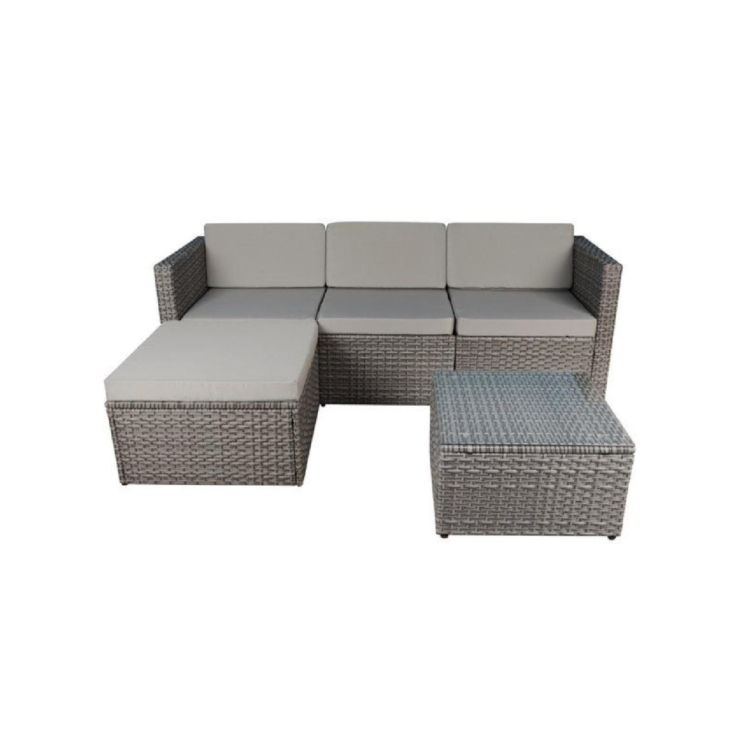 Madison Home USA 3 Piece Outdoor Sectional with Cushions