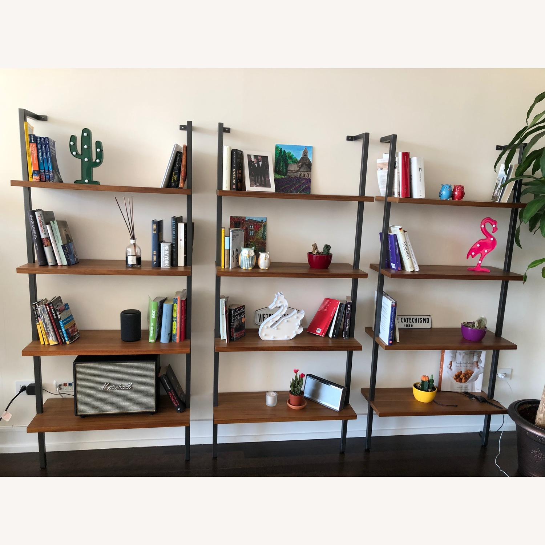 CB2 Walnut Bookcase