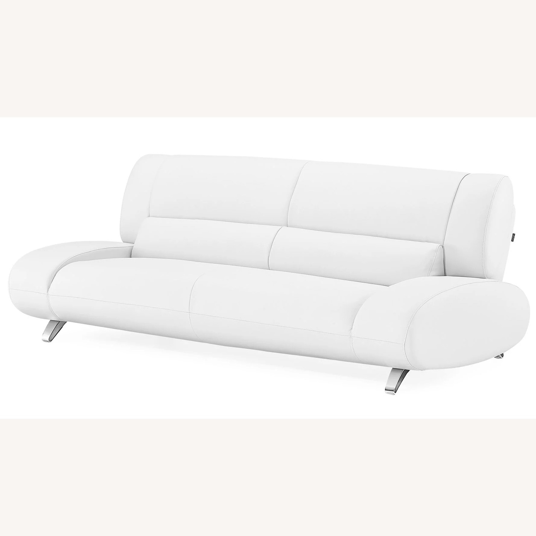 Zuri Furniture White Aspen Sofa