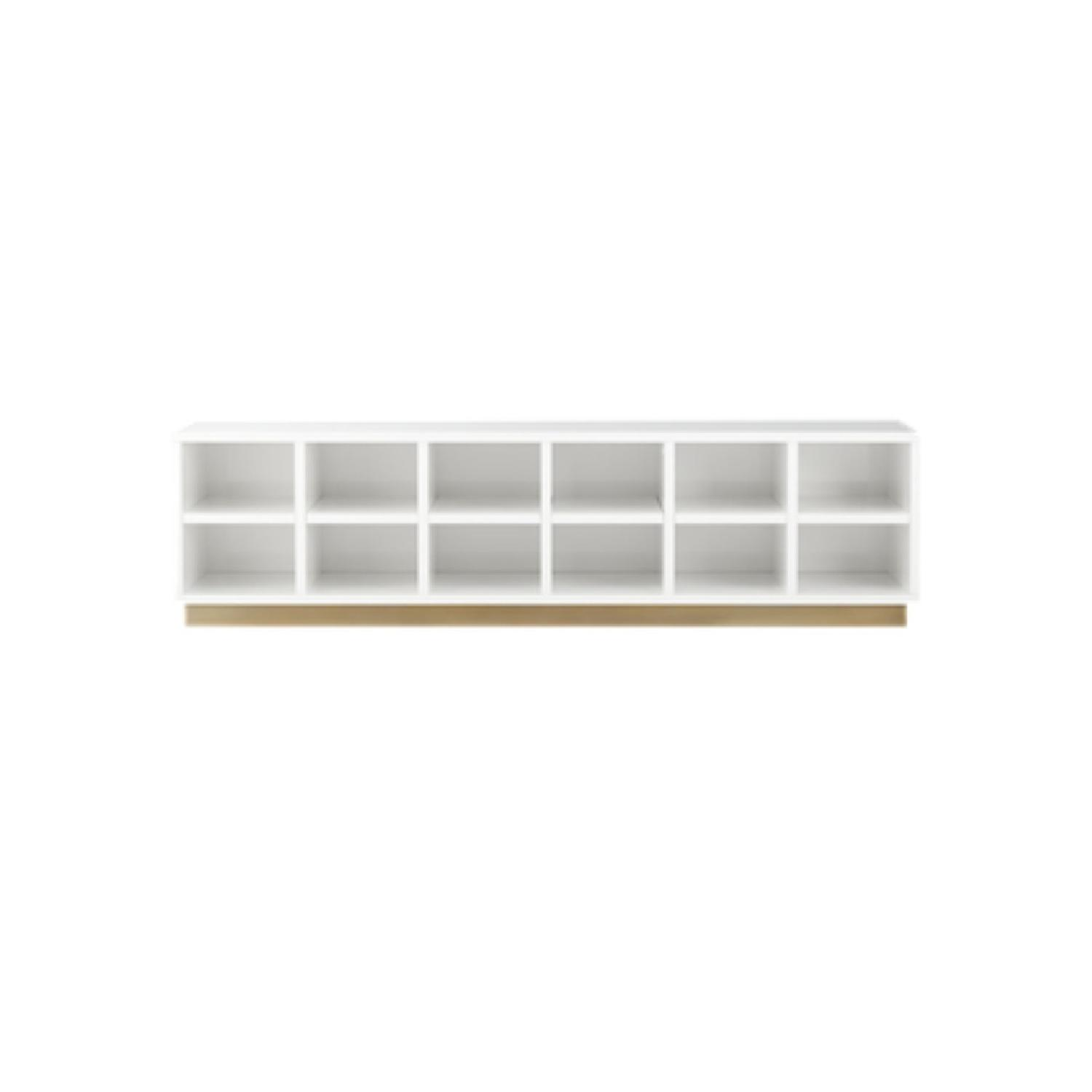 CB2 Oberlin White Entry Bench