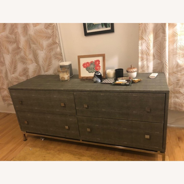 CB2 Shagreen Embossed Dresser