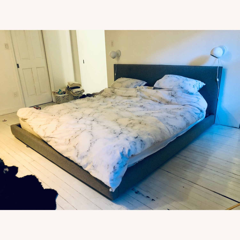 CB2 Facade Grey King Bed