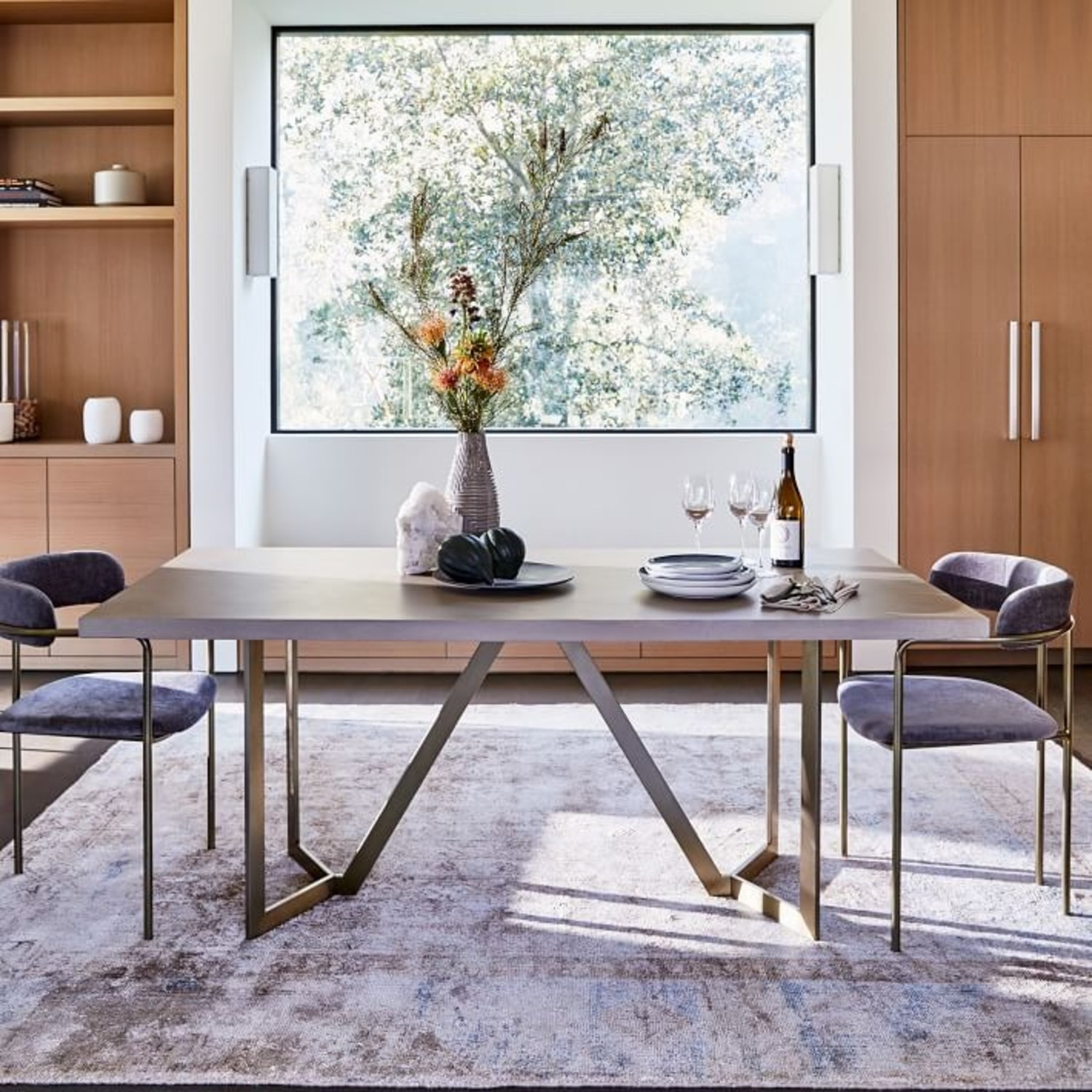 West Elm Tower Concrete Dining Table