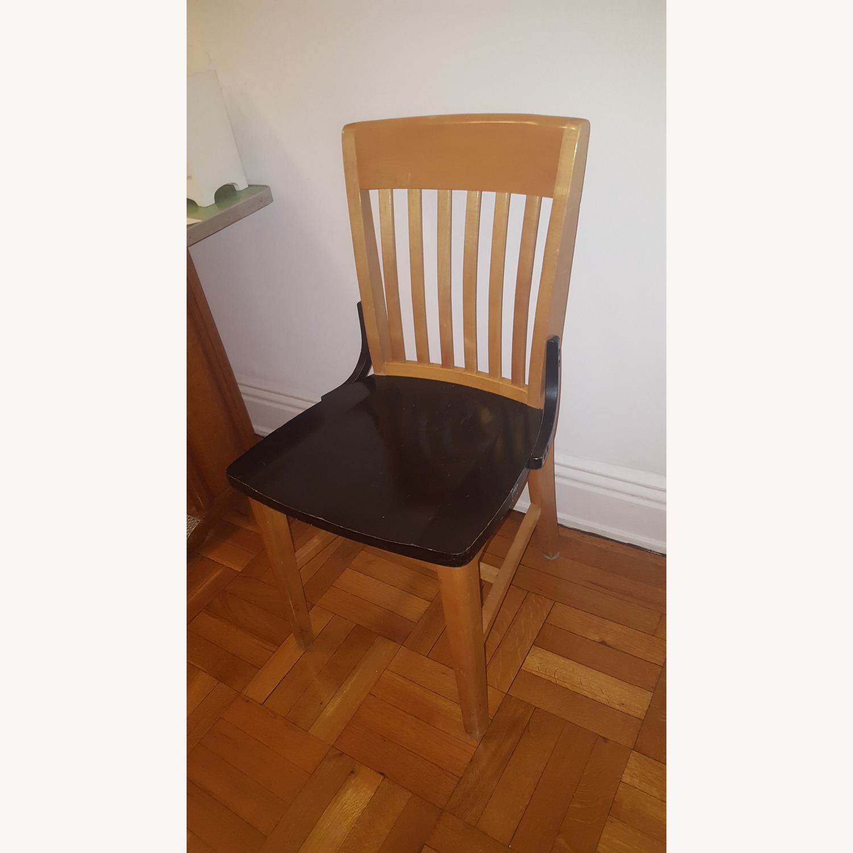 Black & wood chair