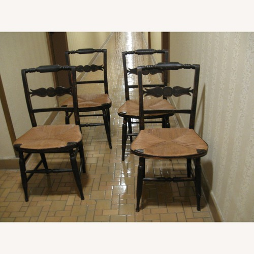 Used Four Hitchcock Chairs Country Chic for sale on AptDeco