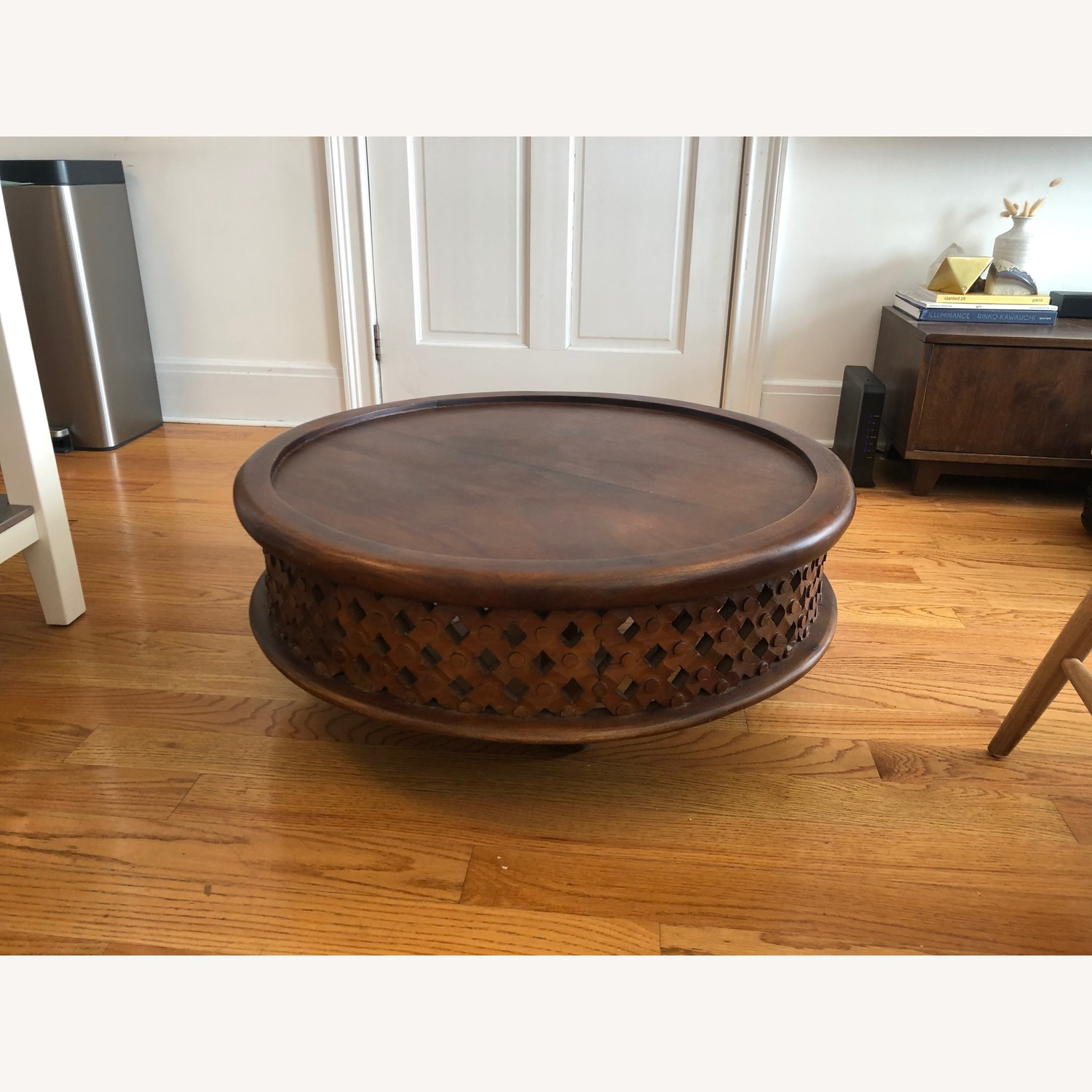 West Elm Wooden Carver Coffee Table