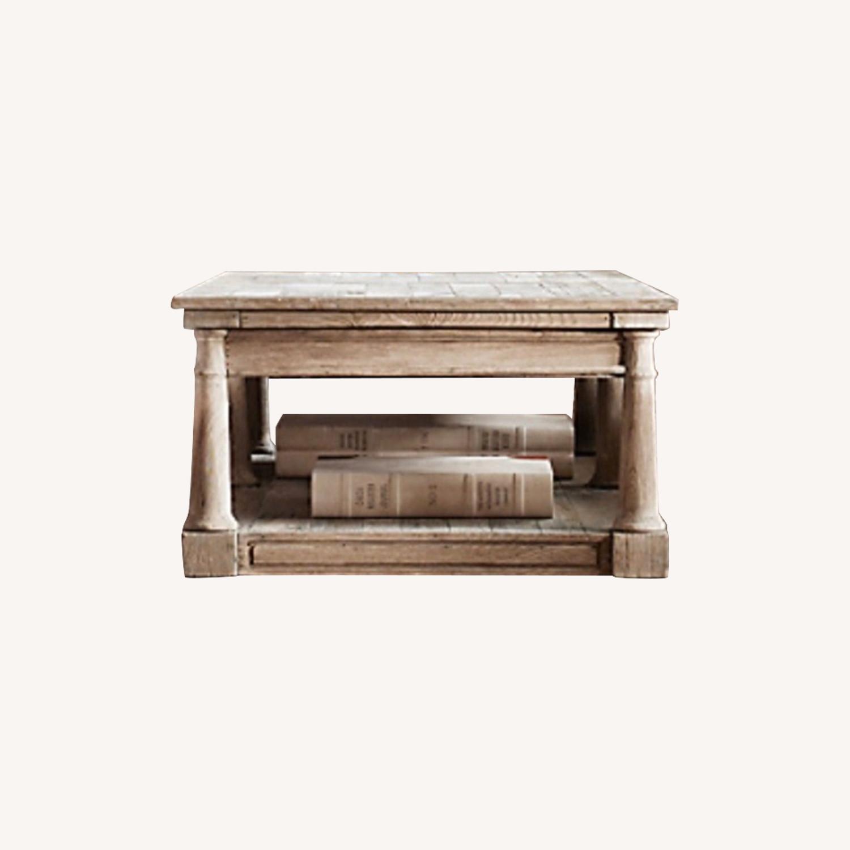 Restoration Hardware Aged Wood Coffee Table