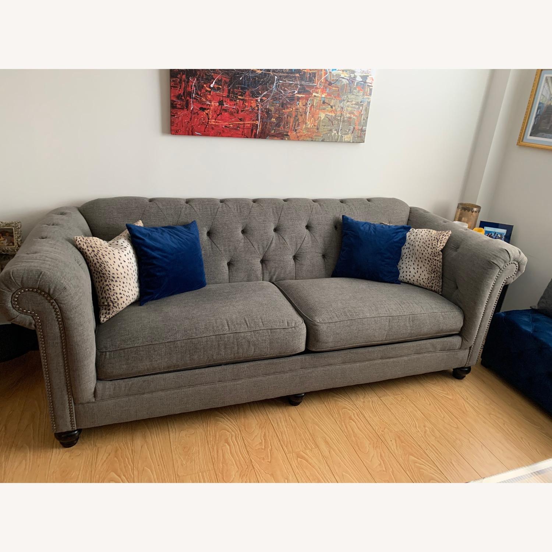 Ashley Furniture Grey Chesterfield Sofa