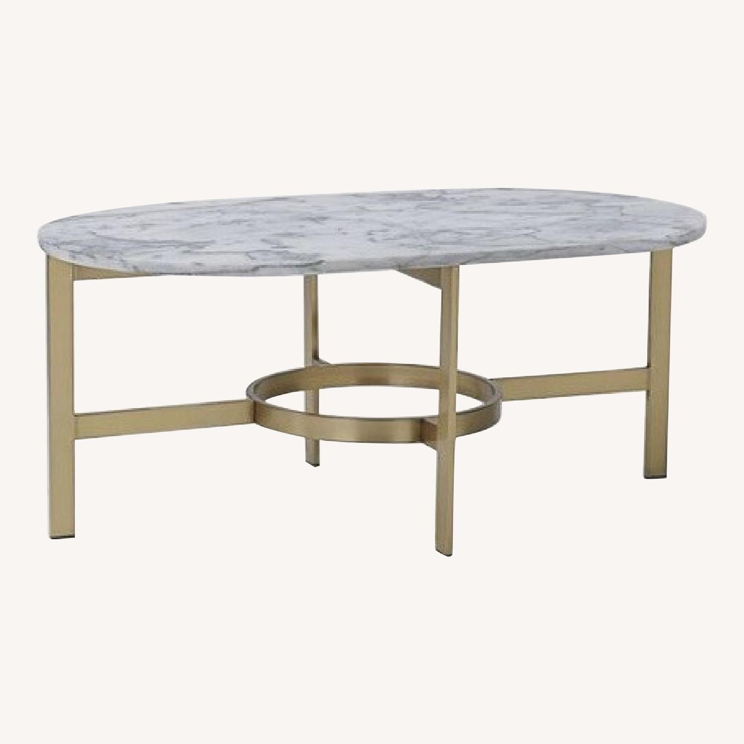 West Elm Marble and Brass Coffee Table
