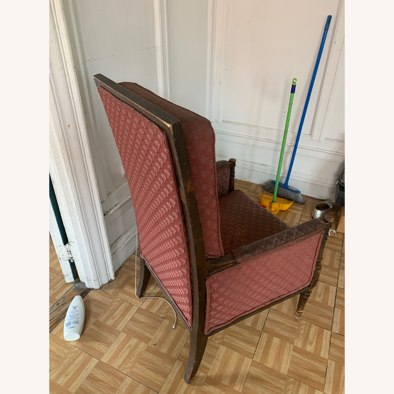 High Back Chair Sturdy Wooden Legs
