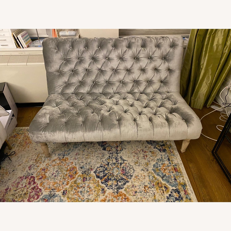Vintage Velvet Loveseat Sofa