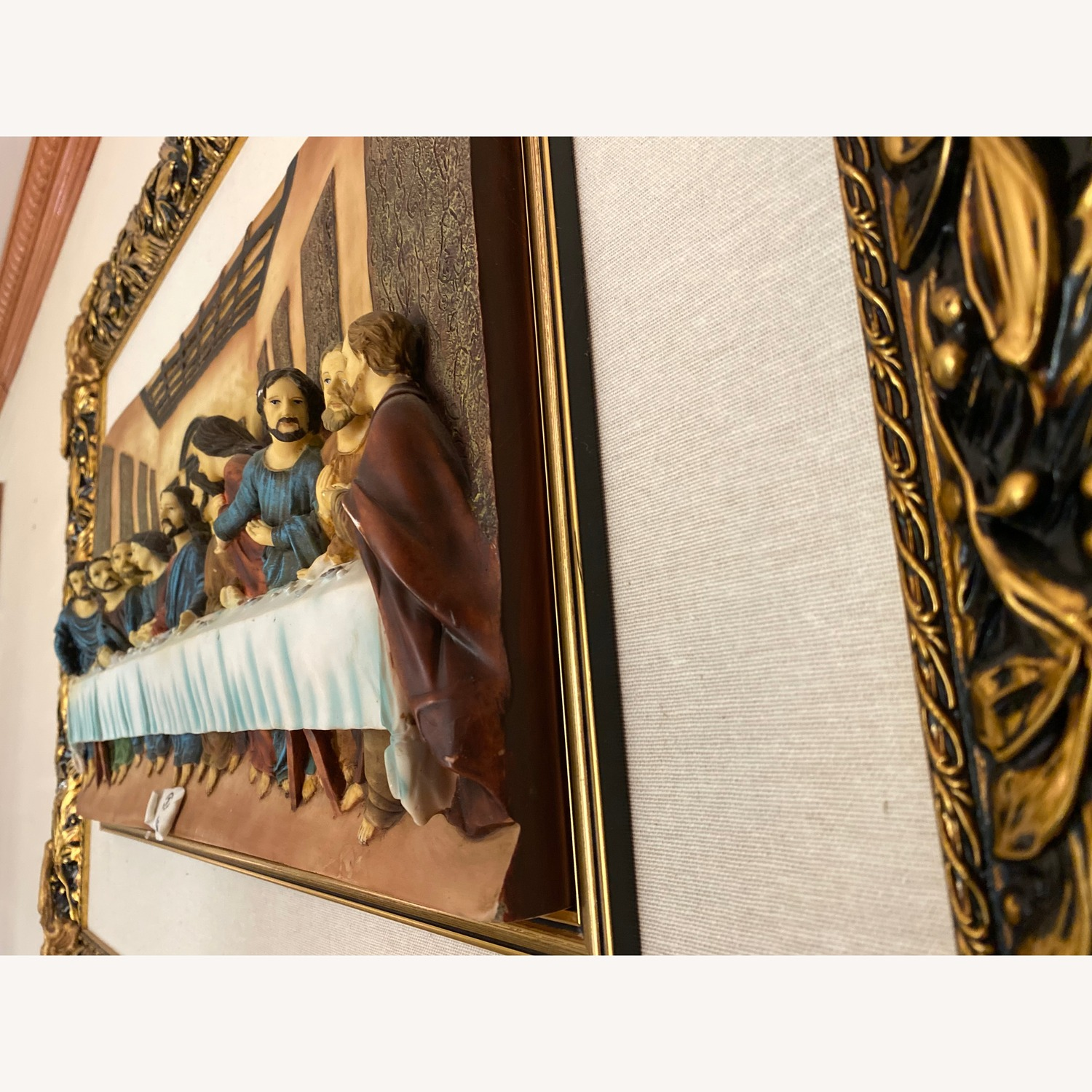 The Last Supper Porcelain Mural with Frame, Capodimonte