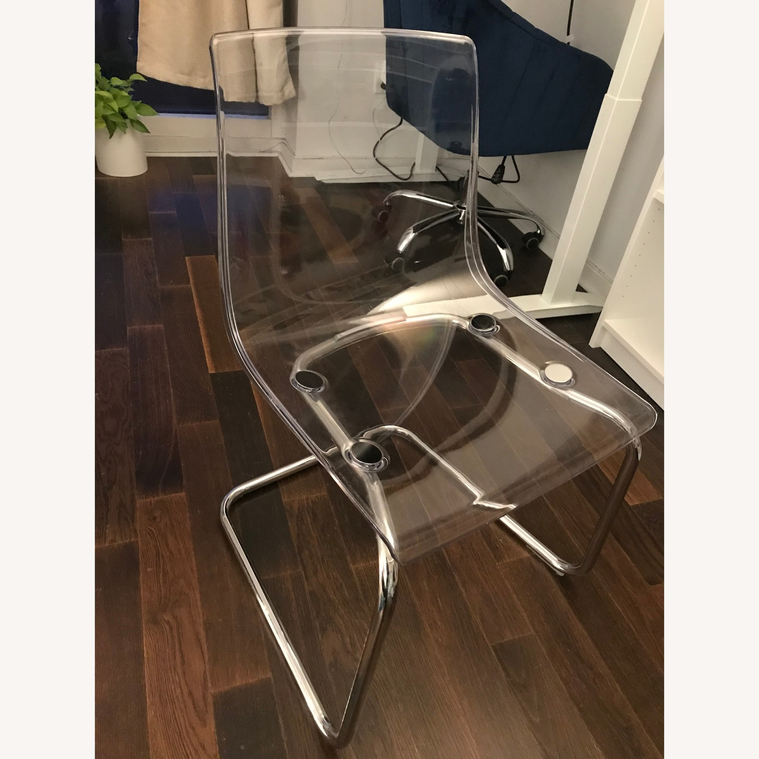 IKEA Circular Glass Dining Table and 2 chairs